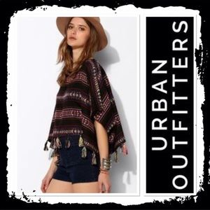 Urban Outfitters Southwestern Tassled Poncho XS